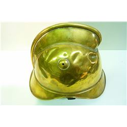 FRENCH BRASS FIREMAN HELMET