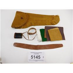 ASSORTED HOLSTERS & LEATHERS