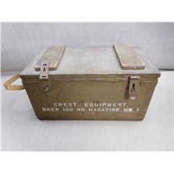 WOODEN MILITARY CHEST