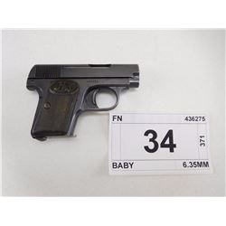 FN  BROWNING  , MODEL: BABY , CALIBER: 6.35MM