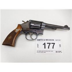 SMITH & WESSON , MODEL: 38 HAND EJECTOR MILITARY AND POLICE POST WAR , CALIBER: 38 SPL