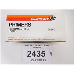 WINCHESTER SMALL RIFLE PRIMERS