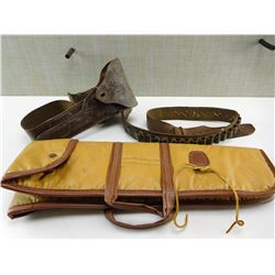 LEATHER HOLSTER & BELT & BAG