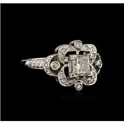 14KT White Gold 0.79 ctw Diamond Ring