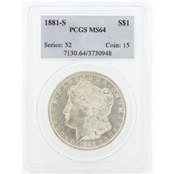 1881 MS64 NGC Morgan Silver Dollar