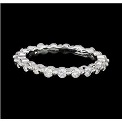 0.62 ctw Diamond Eternity Ring - 14KT White Gold