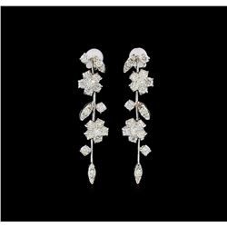 14KT White Gold 2.62 ctw Diamond Earrings