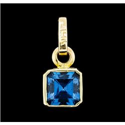 4.50 ctw London Blue Topaz Pendant - 14KT Yellow Gold
