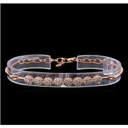 1.95 ctw Diamond Bracelet - 14KT Rose Gold
