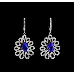 GIA Cert 34.46 ctw Tanzanite and Diamond Suite - 14KT White and Yellow Gold