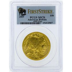 2009 PCGS MS70 First Strike $50 American Buffalo Gold Coin