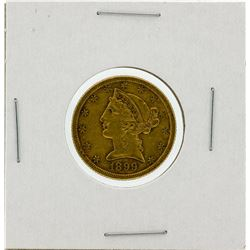 1899-S $5 XF Liberty Head Half Eagle Gold Coin