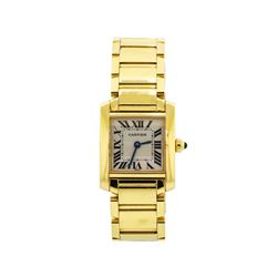 Ladies Cartier 18KT Yellow Gold Tank Francaise Watch