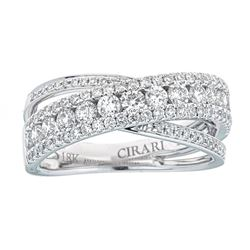 1.17 ctw Diamond Ring - 18KT White Gold