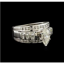 2.11 ctw Diamond Ring - 14KT White Gold