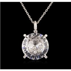 18KT White Gold 0.20 ctw Diamond Pendant With Chain