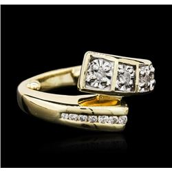 14KT Two-Tone Gold 0.25 ctw Diamond Ring