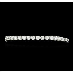 7.15 ctw Diamond Bracelet - 18KT White Gold