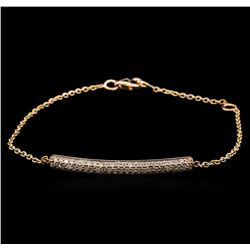 0.54 ctw Diamond Bracelet - 14KT Rose Gold