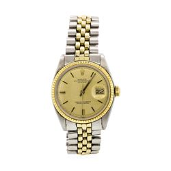 Rolex 14KT Two Tone Men's Oyster Perpetual Datejust Wristwatch