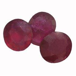 13.14 ctw Oval Mixed Ruby Parcel
