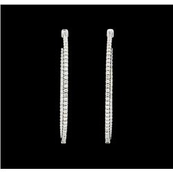 2.09 ctw Diamond Earrings - 18KT White Gold