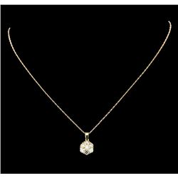 1.40 ctw Diamond Pendant With Chain - 14KT Yellow and Rose Gold