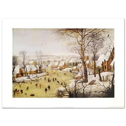 Winter Landscape with Skaters and Bird-trap