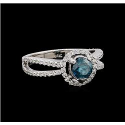 1.40 ctw Fancy Blue Diamond Ring - 14KT White Gold