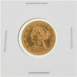 1881-S $5 BU Liberty Head Half Eagle Gold Coin