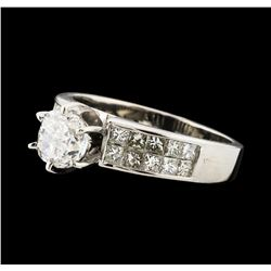 1.80 ctw Diamond Ring - 14KT White Gold