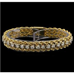 1.85 ctw Diamond Rope Bracelet - 14KT Yellow Gold