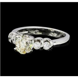 1.26 ctw Diamond Ring - PLATINUM  Platinum Group