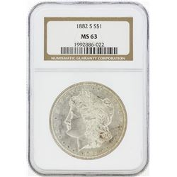 1882-S MS63 NGC Morgan Silver Dollar