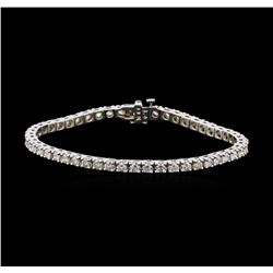 4.66 ctw Diamond Tennis Bracelet - 14KT White Gold