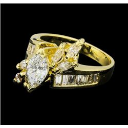 2.00 ctw Diamond Ring - 14KT Yellow Gold
