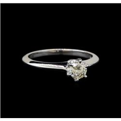 14KT White Gold 0.37 ctw Round Cut Diamond Solitaire Ring