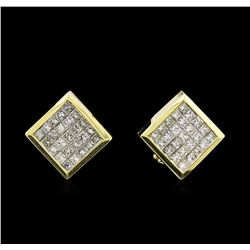 2.30 ctw Diamond Earrings - 18KT Yellow Gold
