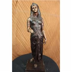 Egyptian Revival Royal princess Bronze Sculpture