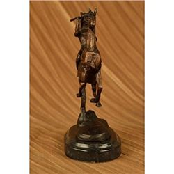 Indian Warrior Chief On Horse Bronze Sculpture
