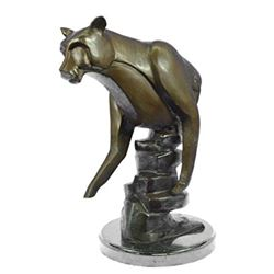 Cougar Female Lion Bronze Sculpter