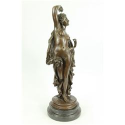 Aldo Vitaleh Nude Woman Nymph Goddess Bronze Figurine