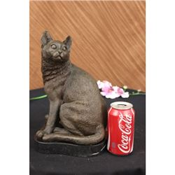 Animal Edition Pompeian Bronze Cat Sculpture