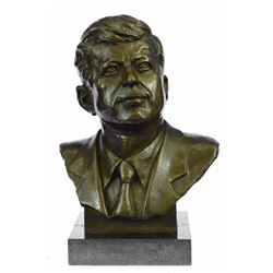 Collector Edition President John Fitzgerald Kennedy Bronze Sculpture