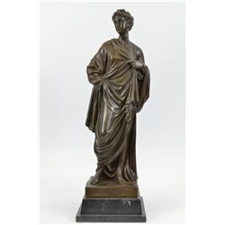 Decarlo Royal European Man Bronze Sculpture on marble base Statue