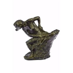 Woman Seated In An Armchair Bronze Sculpture