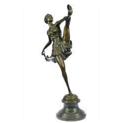 The Russian Dancer Marble Base Bronze Sculpture