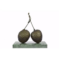 Strawberry And Walking Man Bronze Sculpture