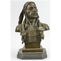 Indian Chief Bronze Sculpture