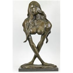 Mother With Baby Bronze Sculpture on marble base Figurine